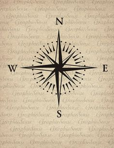 Mariner's Compass  Printable Graphics Digital door GraphicSense, $1.00