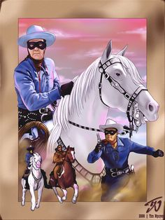 """""""A fiery horse with the speed of light, a cloud of dust, and a hearty 'Hi-Yo Silver away!' The Lone Ranger rides again! 80s Tv Series, Old Western Towns, Old West Photos, Green Hornet, Tv Westerns, The Lone Ranger, Roy Rogers, Cos Play, Old Comics"""