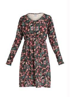 Vestido Evasê Manga Longa (Floral)