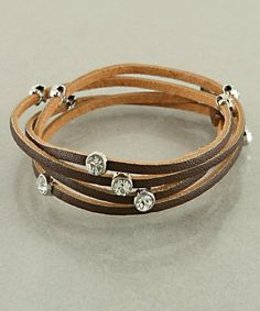 Country Song Leather Wrap Bracelet-Brown  $8.99
