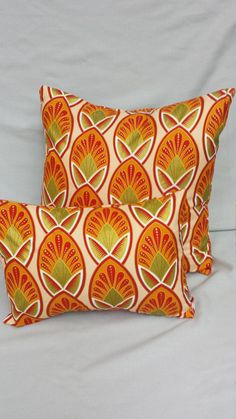 Check out this item in my Etsy shop https://www.etsy.com/listing/462987675/orange-and-gold-african-print-pillow