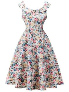 GET $50 NOW | Join RoseGal: Get YOUR $50 NOW!http://www.rosegal.com/vintage-dresses/retro-flounced-cape-sleeve-floral-707152.html?seid=9285294rg707152