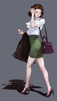 Junseo(峻曙) on - Best Image Portal Female Character Design, Character Design Inspiration, Character Art, Anime Art Girl, Manga Girl, Anime Girls, Fashion Mode, Fashion Art, Amarillis