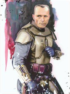 Kal Skirata ; mandalorian mentor of Omega squad ; leader of the Clones' refuge.
