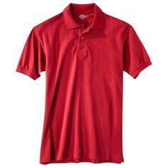 Dickies Young Men's Pique Polo Red Xxxl