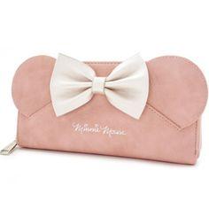 Loungefly x Disney Minnie Mouse Ears Bow Zip Around Wallet, Pink, One Size Disney Handbags, Disney Purse, Disney Minnie Mouse Ears, Pink Minnie, Estilo Disney, Wallet Sale, Pink Crossbody Bag, Disney Style, Mode Inspiration