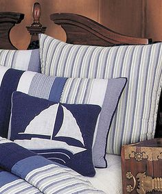 Look at this Blue & White Stripe Euro Sham on #zulily today!
