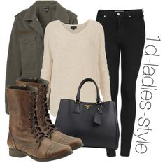 """""""inspired look with brown combat boots"""" by perrie-edwards-outfits on Polyvore"""