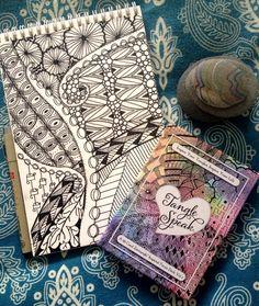Julie Evans, CZT uses the TangleSpeak deck for her morning meditation.