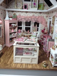 Inside shabby chic shop by Patty Johnson of Metro Mini Makers of the Quad Cities.