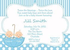 Baby Shower Ideas For Twins Free 10 best very best twin baby shower invitations ideas images on