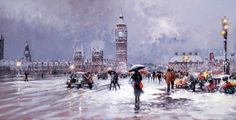 Westminster in Winter [Henderson Cisz-A362] - $500.00 painting by oilpaintingsartmaker.com