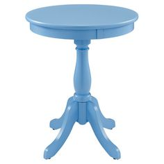 Showcasing A Pedestal Base And Round Silhouette This Stylish End Table Is Perfect For Displaying
