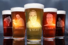 Our laser engraved beer glass is exactly that, a beautiful beer mug touched by the hands of our amazing artist. This is personalization at its finest, a keepsake that will Groomsmen Gift Box, Groomsman Gifts, Engraved Beer Glass, Picture Engraving, Smiling Man, Beer Mugs, How To Make Beer, Laser Engraving, Pint Glass