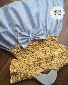 Hayırlı akşamlar 🤗 👗👒👗👒👗👒👗👒 ❣️ipim %100 pamuk nako solare ❣️kumaş pamuk poplin . . . 💌 BİLGİ veSİPARİŞ için DM (mesaj) yazın lütfen 🙏🏻 💌 . . #nurknitting #knitdesign #knittinglove... | SnapWidget Crochet Tutu Dress, Crochet Clothes, Diy Clothes, Baby Knitting Patterns, Knitting Stitches, Crochet For Kids, Knit Crochet, Crochet Circles, Frock Design