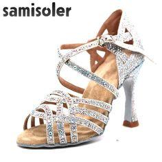 Womens Beginner Peep Toe Zipper Latin Shoe Ballroom Social Tango Cha-cha 0044 Black US Size5 3.15IN