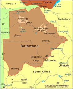 Botswana Atlas: Maps and Online Resources | Infoplease.com