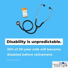 If you're considering the need for disability insurance, remember that disability is unpredictable. Protect your most valuable asset - your ability to earn an income - with a customized disability insurance policy from The Pritchett Agency. ☎ (828) 785-1367 20 Years Old, Year Old, Disability Insurance, Retirement Age, Medical Conditions, Young People, Mental Illness, Did You Know, Knowing You