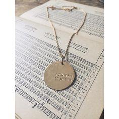 Becoming custom token coordinates necklace