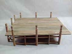 Miniature Dollhouse Pier Tutorial ideal for nautical scenes