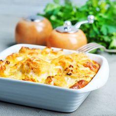 Tartiflette aux légumes et allumettes de jambon