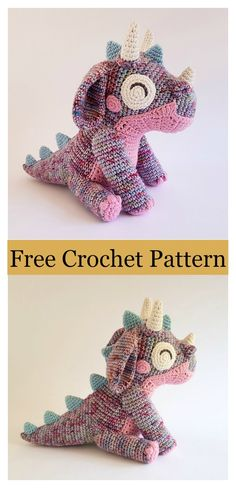 Crochet Toys Patterns Amigurumi Baby Dragon Free Crochet Pattern - This Amigurumi Baby Dragon Free Crochet Pattern allows lots of color variation and personalization. It requires some simple and basic stitches. Crochet Animal Amigurumi, Crochet Baby Toys, Crochet Amigurumi Free Patterns, Crochet Dolls, Free Crochet, Amigurumi Toys, Ravelry Crochet, Easy Crochet Animals, Crochet Shawl