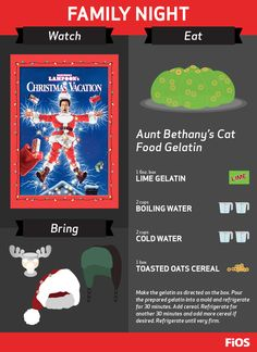 End your next holiday feast with a giggle (and a jiggle) with Aunt Bethany's famous dessert from National Lampoon's Christmas Vacation. Don't forget to say grace. Play ball! #movienight