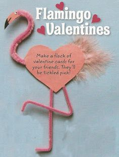 """OH HELLS YES!   valentine flamingo!   Maybe write """"I'll have a FLamINGo with you anytime?""""  ;)"""
