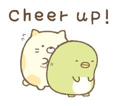 Gifs, Cute Characters, Fictional Characters, Cartoon Stickers, Kawaii, Cheer Up, Cute Gif, Cute Illustration, Encouragement Quotes