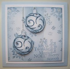 Twinkling Snowflakes, handstamped card with Art Journey Stamps made by Dianne ten Hove
