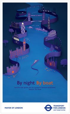 TFL boat campaign, London made entirely out of paper by the very talented Hattie Newman. Photography - Catherine Losing Set Design - Hattie Newman