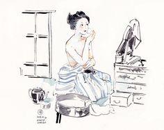 Virtual Memory, Makita, Figure Drawing, Japanese Art, Culture, Drawings, Artwork, Illustrators, Kimono