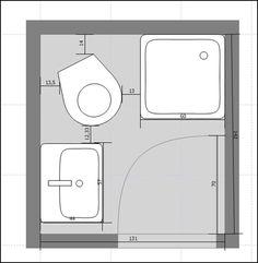 planos de cuartos de baño pequeños - Buscar con Google