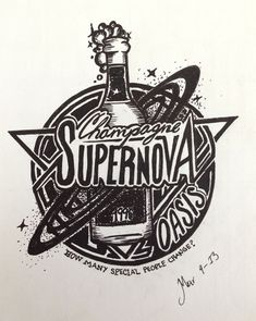 'Playlist Project' Mexico-based graphic designer Robba Saldaña; Champagne supernova by Oasis