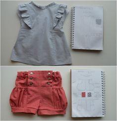 Ruffle Top and Sailor Pocket Shorts | ELEGANCE & ELEPHANTS