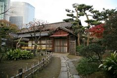 Hamarikyu Gardens, Tokyo. Old with a contrast of new in the background.