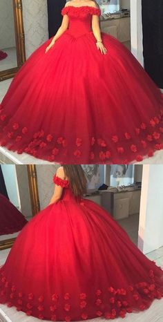 weg von der Schulter Ballkleider, Ballkleid Ballkleider, 2018 Ballkleider Off the Shoulder Ball Gowns, Ball Gown Prom Dresses, 2018 Ball Gowns Pretty Quinceanera Dresses, Cute Prom Dresses, Prom Dresses 2018, Pretty Dresses, Red Sweet 16 Dresses, Dress Prom, Bridesmaid Dress, Sparkly Dresses, Elegant Dresses