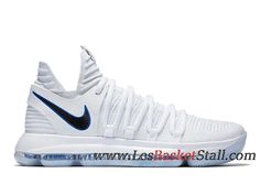 a98bbebbddb Nike KD 10 Opening Night Chaussures Nike Basket Pas Cher Pour Homme Blanc  Noir 897815-