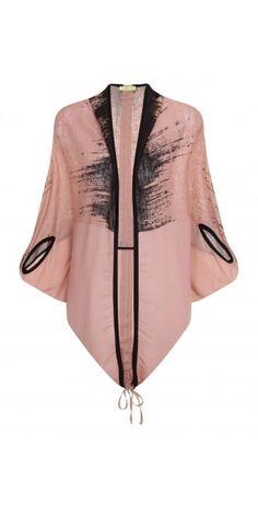 Mat Fashion Long Pink Opema Jacket