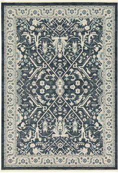 Dark Gray Heriz Design Area Rug