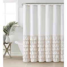 VCNY Melanie Ruffle Shower Curtain - Free Shipping On Orders Over $45 - Overstock.com - 17978310 - Mobile