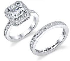 Sleeping Beauty Wedding Rings.