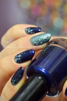 Tartofraises #nail #nails #nailart gel 3d texture chrome