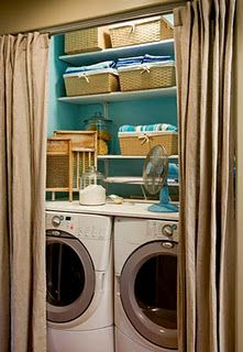 """Check out our web site for even more information on """"laundry room stackable washer and dryer"""". It is an excellent location to read more. Laundry Room Curtains, Curtains For Closet Doors, Pink Laundry Rooms, Laundry Room Doors, Laundry Room Remodel, Laundry Room Storage, Laundry Room Design, Laundry Area, Small Laundry Closet"""