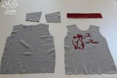 Materials - Sew a t shirt for boys with this free pattern and tutorial from Melly Sews