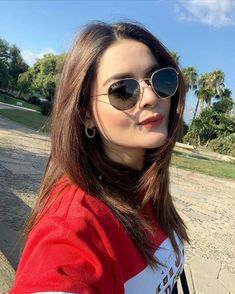 Aviator sunglasses Ray Ban Erika Sunglasses, Sunglasses Store, Ray Ban Sunglasses Outlet, Wayfarer Sunglasses, Sunglasses Women, Ray Ban Women, Cute Girl Pic, Pakistani Actress, Red Blouses