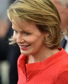 Queen Mathilde of Belgium arrives ahead of the Group H football match between Belgium and Russia at The Maracana Stadium in Rio de Janeiro, 22.06.2014, during the 2014 FIFA World Cup.