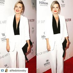 Always love working with Ali!! Beautiful on inside and out! #Repost with @repostapp.  Feminine meets masculine. Love a good pant suit! Last night's look at the Beverly Hilton 60th anniversary party celebrating Neil Lane diamonds! So fancy! Details on www.AliLuvs.com  @liketoknow.it www.liketk.it/1Gzmh #liketkit Makeup by the super talented @jesssouthern  by jesssouthern