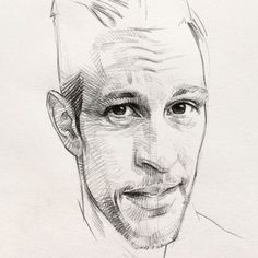 Last nights exercise. Looks a little like a slim Tom Hardy. #Sketchbook  #drawing