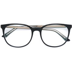 Dior Eyewear 'Montaigne 34' glasses (1.080 BRL) ❤ liked on Polyvore featuring accessories, eyewear, eyeglasses, black and lens glasses